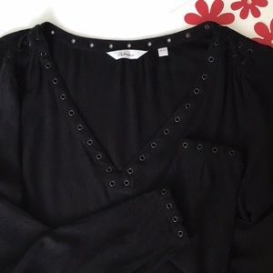 Black Blouse with Details